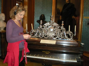 Virginia Eskin at Liszt's house in Budapest