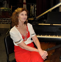 Virginia Eskin with the Reading Civic Concert Band